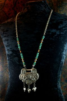 Ethnic Tribal Silver Necklace