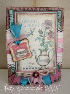 Botanical Tea card featuring RRR March Ribbon Club selection.