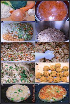 Bildeseriegrønnsaksburgere Food And Drink, Ethnic Recipes, Dessert, Deserts, Postres, Desserts, Plated Desserts
