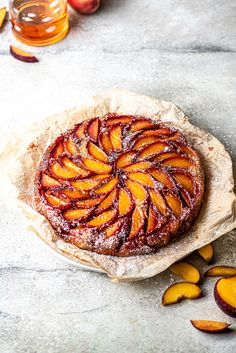 This easy upside-down cake made with fresh peaches, bourbon, and cinnamon is a caramelized cake dream! Take your time laying the peach slices in the caramel to create a gorgeously decorated dessert. Gorgeous Cakes, Amazing Cakes, Peach Upside Down Cake, Peach Slices, Peach Cheesecake, Little Cakes, Peach Cake, Sweet Cakes, Berry Cake