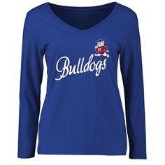 South Carolina State Bulldogs Women's Dora Slim Fit Long Sleeve T-Shirt - Royal - $24.99