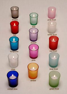 $5.00 per SET OF 4 COLOR VOTIVE HOLDERS EACH SET CONTAINS 4 VOTIVE HOLDERS. EACH CASE CONTAINS 36 SETS OF 4, 144 PIECES TOTAL. NOT DISHWASHER SAFE. 2 1/8IN DIA X 2 1/2IN H. case is 144.00