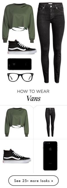 """"""""""" by samhic on Polyvore featuring WithChic, H&M, Vans and Muse"""