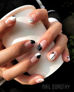 Try some of these designs and give your nails a quick makeover, gallery of unique nail art designs for any season. The best images and creative ideas for your nails. Cute Acrylic Nails, Cute Nails, Cute Shellac Nails, Neon Nails, Glitter Nails, Hair And Nails, My Nails, Oval Nails, We Heart It Nails