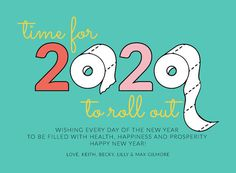 Roll Out 2020 New Year Cards