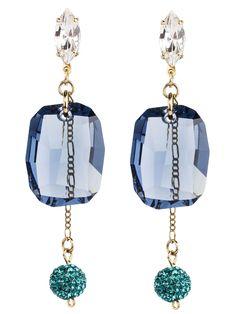 PEZZO UNICO -  Navette in cristallo Swarovski, maxi pendente e boulle in cristallo Swarovski Design by Onirica Jewelry
