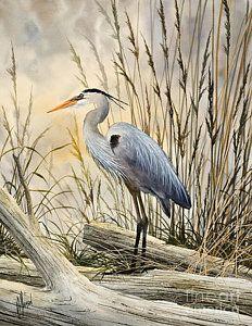 Blue Heron Painting - Nature's Wonder by James Williamson