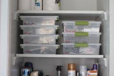 Linen Closet Organization #organize