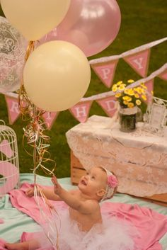 1st birthday, Smash the cake photo shoot!