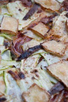 Receta de cocina: Pizza de calabacines con anchoas y albahaca