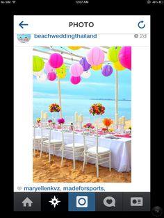 Wedding Reception For my tropical theme