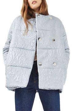 Jacquard dresses up any puffer jacket