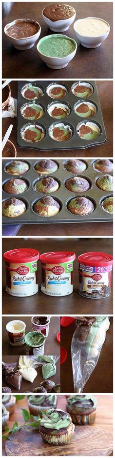 Camo Cupcakes for Veterans Day