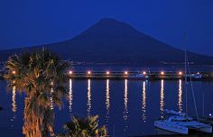 Pico Island as seen from Faial by night - Azores