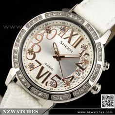 BUY Casio Sheen Rhinestones LED Light Ladies Watch SHE-4031L-7A,SHE4031L - Buy Watches Online | CASIO NZ Watches
