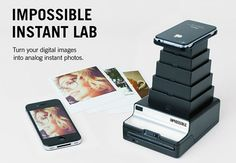 Del iPhone a la Polaroid.    The Impossible Project son los maravillosos causantes de que la Polaroid siga viva. Comenzaron 10 ex empleados de Polaroid que compartían la pasión por estas cámaras. Ellos hicieron lo imposible, valga la redundancia, para conseguir evitar su desaparición y no solo lo consiguieron sino que no paran de reinventarse.    Lo último que nos traen es un aparatito que es capaz de transformar las fotos realizadas desde el iPhone a Polaroid.  http://youtu.be/lYLRwyo1w0c