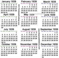 13 best calendars thru the years images on pinterest calendar