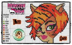 Monster High perler bead pattern by Carina Cassol -
