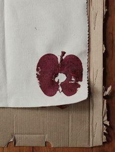 Small Measures: Apple Stamp Table Runner | Design*Sponge