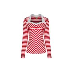 Welcoming 'Nikita', a stripey long sleeved red top with pretty collar. Team with Lindy Bop bottoms for an outfit fit for any occasion! Vintage Inspired Fashion, 1950s Fashion, Red Stripes, Stripe Top, Striped Jersey, Vintage Tops, Long Sleeve Tops, Clothes For Women, My Style