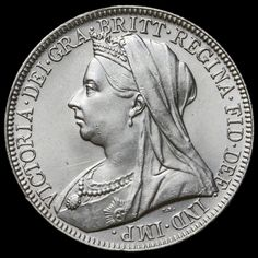 1901 Queen Victoria Veiled Head Silver Florin – BU