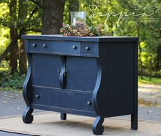 Black Empire Style Buffet / Sideboard Server by SeppiaFurniture
