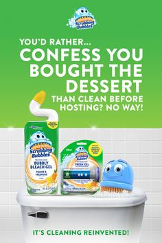 When planning for a party, Scrubbing Bubbles can help. First, use Bubbly Bleach Gel for a clean that smells pristine. Then, use Fresh Gel to freshen with every flush. House Cleaning Tips, Cleaning Hacks, Crafts For Kids, Diy Crafts, Cute Room Decor, Woodworking Crafts, Clean House, Cute Wallpapers, Bubbles