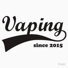 Vaping Since 2015 Design #vaping #vapers #vape #vapedesign #swoosh #vapelife