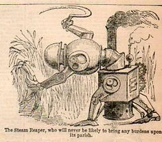 I found these images browsing through The Illustrated London News for April (date obscured) 1853.  In my experience seeing articulated, steam-driven robots in the mid-19th century is pretty unusual