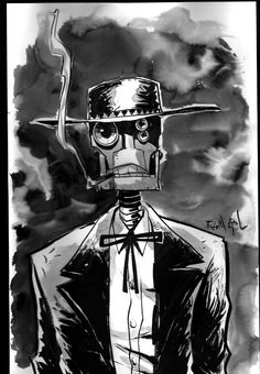 Iron West Doug TenNapel   Finally, here's Blue the redneck giant, bipedal, mantis from ...
