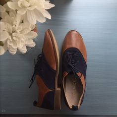 Restricted Shoes Navy blue and brown. Womens size 8. Never worn --check out pictures Restricted Shoes