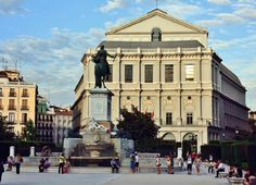 Teatro Real en la plaza de Oriente de Madrid