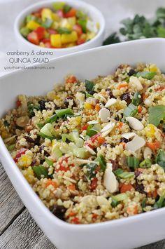 Squash and Cranberry Quinoa Salad | Recipe | Fall Salad, Quinoa ...