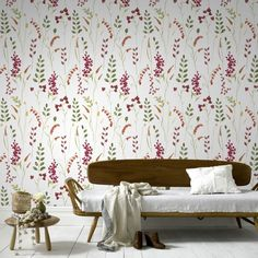 Bluebell Floral Wallpaper - Designer Flower Wall Coverings by Graham  Brown