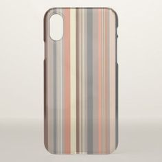 Stripes - Retro Tones iPhone X Case - stripes gifts cyo unique style