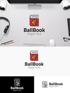 BallBook Logo Template AI, EPS