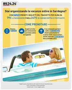 Traghetto per la Sardegna a 79 euro con 892424