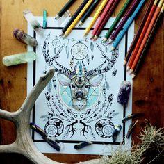 sacred geometry deer - - Yahoo Image Search Results