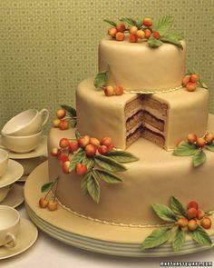 Cherry Almond Cake - Martha Stewart Weddings Planning & Tools
