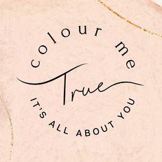 Minimal stamp logo design for colourist Colour Me True. Logo circle design by Case In Point Design Studio