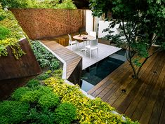 10 Marvelous Useful Tips: Backyard Garden Layout Trees small backyard garden people.Backyard Garden Landscape How To Make backyard garden beds patio. Urban Garden Design, Small Garden Design, Urban Design, Modern Design, Small Gardens, Outdoor Gardens, Steep Gardens, Landscape Architecture, Landscape Design