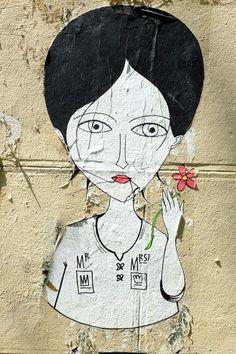 Fred le chevalier - street art - Paris 18 - rue foyatier