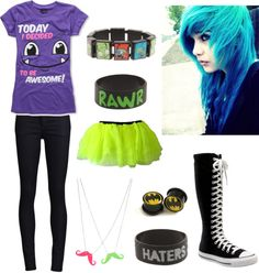 """""""scene outfit #1"""" by mcr-bvb-1d-lover on Polyvore"""