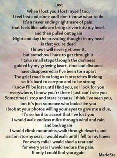 When I lost you, I lost myself, too. I feel lost and alone, and I don't know what to do. It's a never ending nightmare of pain. Miss Mom, Miss You Dad, I Love U Daddy, I Feel Lost, You Lost Me, Feeling Lost, Lost Love, Grief Poems, Mom Poems