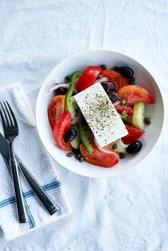 Authentic Greek Salad | perpetuallychic.com