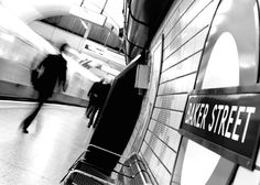 Baker Street, London - B/W via Favim. Tube Stations London, London Underground, London Photos, London Calling, Baker Street, Favim, Best Cities, The World's Greatest, London England
