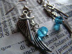 Supernatural Angel Inspired Earrings on Etsy, $9.10