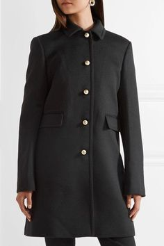 Black wool Button fastenings through front 100% wool; lining: 100% viscose Dry clean Made in Italy