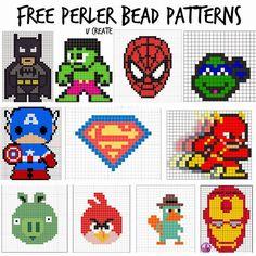 Free Perler Bead Patterns at U Create! u-createcrafts.com