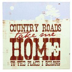 DEMDACO Lyricology Country Roads Wall Art | Pure Home